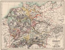 GERMANY 1138-1254. under the House of Hohenstaufen 1902 old antique map chart