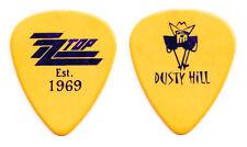 Zz Top Dusty Hill Signature Yellow/Purple Foil Guitar Pick - 2017 Tonnage Tour