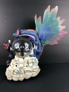 Eleco Electric Dragon & Wizard Plasma Crystal Ball Accent Lamp Halloween Decor