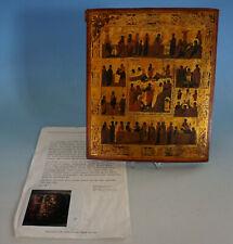 RS0421-049: Ikone Festtagsikone Russland Höllenfahrt und Auferstehung Christi