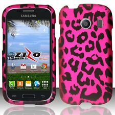 For Samsung Ace Style S765C Rubberized Matte Hard Design Cover Case Pink Leopard