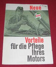 dachbodenfund alt prospekt falt blatt castrol motor öl kfz 1963 reklame werbung