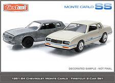 GREENLIGHT 1:64 FIRST CUT - 1984 CHEVROLET MONTE CARLO SS Diecast Car Set Of 2