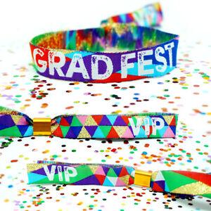 GRAD FEST Festival Graduation Day Party Wristbands - GRADFEST Lockdown Party