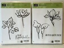 Stampin Up REMARKABLE YOU stamps Flowers Easter Lily Magnolia