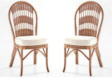 Set of 2 Rattan Bermuda Dining Side Chairs from American Rattan