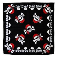 k001 Totenkopf Skull Schwarz Kopftuch Bandana Halstuch Tuch Biker Kopfbedeckung
