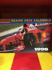 1998 AUTOCOURSE GRAND PRIX FORMULA1 CALENDAR FROM THE SCHUMACHER ERA
