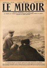 Voilier Torpillé par les Pirates/Tranchées à Pozière Poilu WWI 1917 ILLUSTRATION