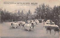 Cartolina - Postcard - Milano - Hotel du Nord - Ristorante - Giardino - anni '20