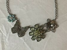 Womens Floral Chucky Statement Costume Jewelry Necklace