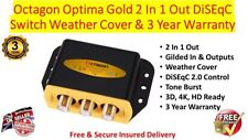 Octagon Optima Gold 2 In 1 Out DiSEqC Switch Weather Cover & 3 Year Warranty