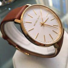 Ladies Genuine Michael Kors Pyper Designer Watch MK2740 Gold Leather White