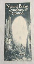 NATURAL BRIDGE -- SYMPHONY OF CREATION Brochure -- Virginia, 1930's -- LEW WHITE