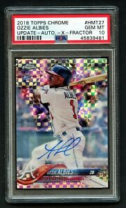 2018 Topps Chrome Update Ozzie Albies XFractor Auto RC Rookie Card PSA 10 66/125