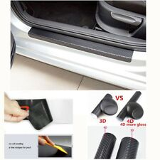 Car Accessories Door Sill Scuff Cover Welcome Pedal Threshold Carbon Fiber Style