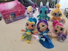LOT OF 6 Fisher-Price Nickelodeon Shimmer & Shine, Zahramay Plush Friends