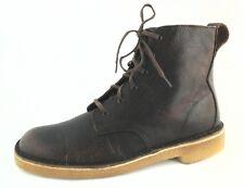 Clarks Originals Mens Ankle Chukka Boots Desert Mali Brown Leather US 7.5 EU 40
