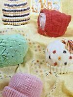 Teddy DK Knitting Pattern Baby Hats 7175