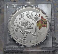 10 Yuan 2008 - China - Olympia in Peking - Federballkicken 1 oz Ag