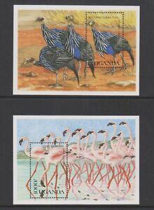 Uganda - 1990, Wild Birds of uganda sheets x 2 - MNH - SG MS848