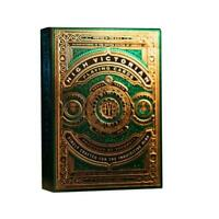 High Victorian Playing Cards by Theory 11 Luxury Gold Green Foil Finish Deck