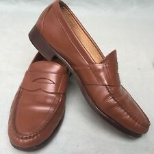 MENS WOMENS LEATHER SHOES COLE-HAAN MADE USA BROWN SIZE 8 EXTRA LARGE PRIME 312