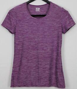 32 DEGREES Medium Women's Top Activewear Cool Short Sleeve Heather Purple