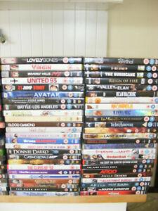 Wholesale Joblot DVDs x 100 Films Action Drama Comedy titles pictured mix lot 1