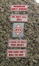 #3 - 5 STICKERS 3 inch DENVER 81 SUPPORT YOUR LOCAL HELLS ANGELS STICKER PACK