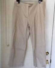 Jones New York Women's Pants Khaki Cotton Spandex Size 12 Stretch Inseam 27