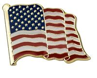USA Flag America Large Pin Lapel Badge Independence Day Gloss Enamel