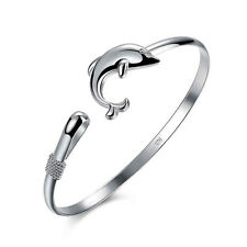 Bangle Bracelet Fashion Jewelry New Silver Plated Dolphin Clasp