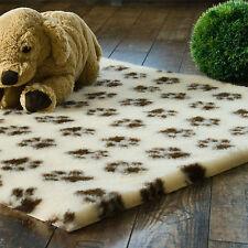 Vetbed Drybed 150x100cm PET ISOFLOOR beige/braune Pfötchen Hundedecke Hundebett
