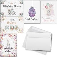 15 Osterkarten Mix 5x3 Motive Set mit Umschlag Grußkarten Frohe Ostern Vintage