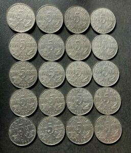 Old Canada Coin Lot - 1922-1936 - KING GEORGE V NICKELS - 20 Coins - Lot #J11
