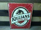 George Killians Irish Red Lager Metal Beer Sign Tin Vintage Garage Bar Classic