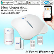 KERUI W1 WIFI PSTN Wireless Home House Burglar Security Alarm System Sensor Kit