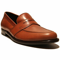 FERRAGAMO Brown Leather Penny Dress Loafers 7.5 EE 40.5 Men's Casual Fashion 41