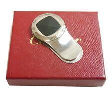 Authentic Cartier Money clip Onyx Silver Metallic #4119