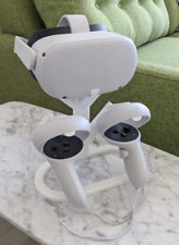More details for display stand for virtual reality oculus quest 2 -controller stand - black/white