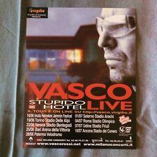 VASCO ROSSI STUPIDO HOTEL Tour promo flyer 15 x 18 cm mini poster con date