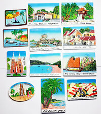 Set 12 pcs Carving Stone Painted picture - Wall Decor - Magnet mounted behind