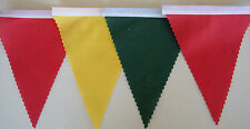 Red Yellow  Green Fabric Football Bunting flags Bedroom  decoration 2mt or more