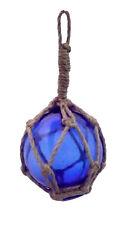 Flotteur en verre 8 cm bleu décoratif, décoration filet de pêche, déco marine