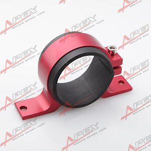 Fuel Pump Mount Mounting Bracket Clamp Cradle BOSCH 044 60mm Red