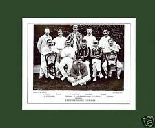 MOUNTED CRICKET TEAM PRINT - LEICESTERSHIRE - 1895