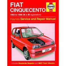Fiat Cinquecento Haynes Manual 1993-98 0.9 1.1 Petrol Workshop