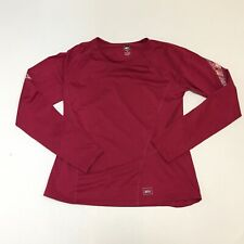 REI Long Sleeve Pullover Shirt Red Pink Running Outdoor Womens Medium