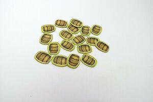 Catan Junior Game Replacement Parts Pieces - 17 Molasses Tiles
